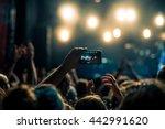 woman capturing festival... | Shutterstock . vector #442991620