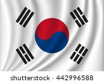 waving vector flag of south... | Shutterstock .eps vector #442996588