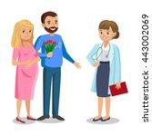 family visiting doctor in... | Shutterstock . vector #443002069