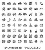 black and white hand drawn... | Shutterstock .eps vector #443002150