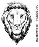 isolated lions head  vector... | Shutterstock .eps vector #443008090