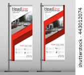 red flag banner business... | Shutterstock .eps vector #443012074