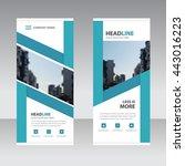blue label business roll up...   Shutterstock .eps vector #443016223