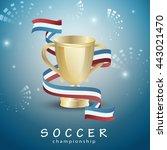 Soccer Blue Background. Vector...