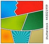 comics book background in... | Shutterstock .eps vector #443021959