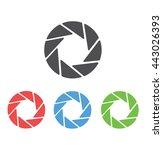 camera shutter vector icon | Shutterstock .eps vector #443026393