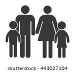 family icon vector | Shutterstock .eps vector #443027104