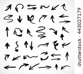 hand drawn arrows  vector set | Shutterstock .eps vector #443027179