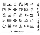 colliction of finance icons | Shutterstock .eps vector #443028340