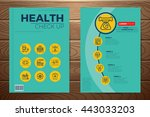 medical and health check up... | Shutterstock .eps vector #443033203