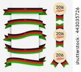 world flag ribbon   vector... | Shutterstock .eps vector #443035726