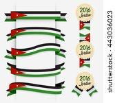 world flag ribbon   vector... | Shutterstock .eps vector #443036023