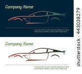 vector company logo icon... | Shutterstock .eps vector #443038279