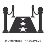 red carpet icon vector   Shutterstock .eps vector #443039629