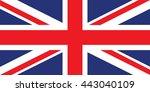 united kingdom  uk  flag... | Shutterstock .eps vector #443040109