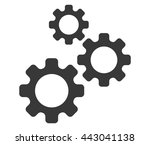 settings icon. gear symbol.... | Shutterstock .eps vector #443041138