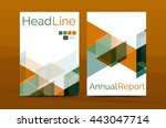 geometric a4 front page ... | Shutterstock .eps vector #443047714