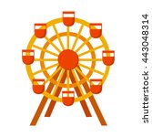 ferris wheel icon cartoon.  | Shutterstock .eps vector #443048314