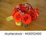 beautiful bouquet of roses on... | Shutterstock . vector #443052400