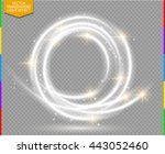abstract vector magic glow star ... | Shutterstock .eps vector #443052460