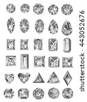 set of realistic jewels... | Shutterstock .eps vector #443052676