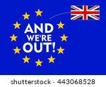 uk flag separetes from european ... | Shutterstock .eps vector #443068528