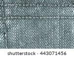 texture of denim  jeans... | Shutterstock . vector #443071456
