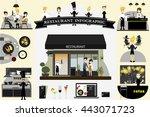 restaurant info graphic flat... | Shutterstock .eps vector #443071723