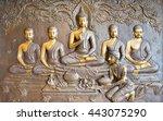 buddha sculpture image.  thai...   Shutterstock . vector #443075290