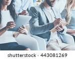 business conference. close up... | Shutterstock . vector #443081269