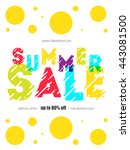summer sale template. color... | Shutterstock .eps vector #443081500
