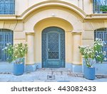 athens greece  elegant house... | Shutterstock . vector #443082433