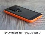 telephone orange  | Shutterstock . vector #443084050