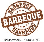 barbeque. stamp | Shutterstock .eps vector #443084143
