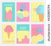 ice cream posters  banners and... | Shutterstock .eps vector #443089294