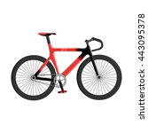 bicycle icon cartoon.  | Shutterstock .eps vector #443095378