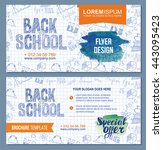 back to school flyer template...   Shutterstock .eps vector #443095423