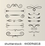 set of text dividers | Shutterstock .eps vector #443096818