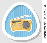 radio colorful icon. vector...