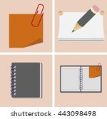 set icons items for school and... | Shutterstock .eps vector #443098498