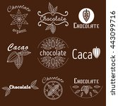 collection of cacao and... | Shutterstock .eps vector #443099716