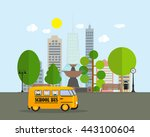 back to school background with... | Shutterstock .eps vector #443100604