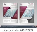 front and back page brochure... | Shutterstock .eps vector #443102494