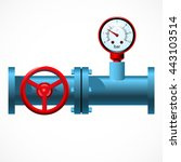 Red Manometer And Industrial...