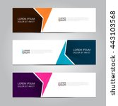 vector design banner background. | Shutterstock .eps vector #443103568