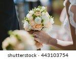 groom gave his beloved a... | Shutterstock . vector #443103754
