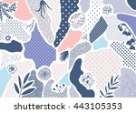 creative geometric background... | Shutterstock .eps vector #443105353