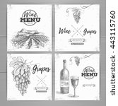vintage wine menu design.... | Shutterstock .eps vector #443115760
