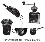 vector vintage silhouettes... | Shutterstock .eps vector #443116798
