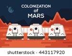 good concept of mars... | Shutterstock .eps vector #443117920